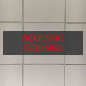 acoustic ceiling, act tile, acoustical tile, certainteed tile, armstrong tile, usg tile