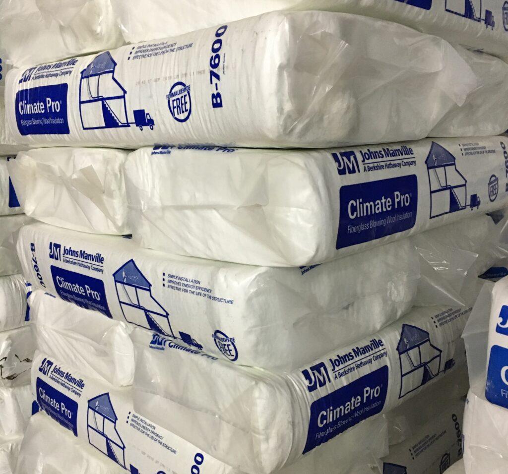 Blowing Wool Fiberglass Insulation Johns Manville Bags